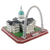 Daron Gateway Arch/Courthouse 3D 49pcs 3D Jigsaw Puzzle #157h