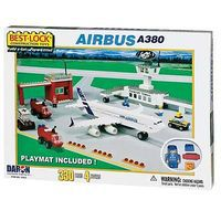 Daron Airbus A380 Airport Set w/4 Figures 330pcs Building Block Set #33021
