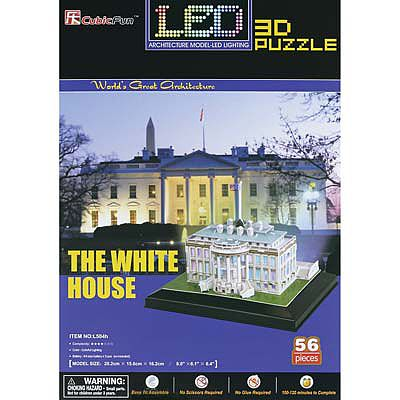 Daron Worldwide Trading Inc. 3D LED White House 56pc Puzzle -- 3D Jigsaw Puzzle -- #504h