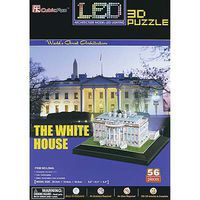Daron 3D LED White House 56pc Puzzle 3D Jigsaw Puzzle #504h