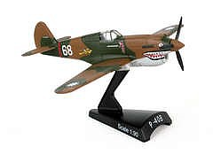 Daron Worldwide Trading Inc. 1/90 P40 Warhawk Hells' Angel Aircraft