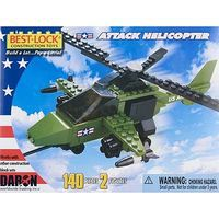 Daron Attack Helicopter w/2 Figures 140pcs Building Block Set #5561