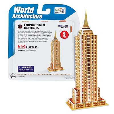 Daron Worldwide Trading Inc. Super Mini Empire State Building 3D Puzzle 9pcs -- 3D Jigsaw Puzzle -- #chc1314