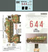 Echelon FlammPzWg SdKfz 251/16 Ausf D Plastic Model Halftrack Decal 1/35 Scale #356054