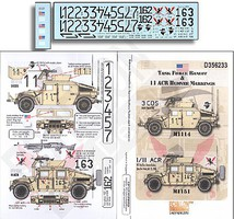 Echelon 1/35 Task Force Bandit & 11 ACR Humvee Markings