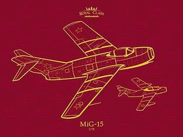 Eduard-Models Royal Class- MiG15 Quattro Combo Aircraft Plastic Model Airplanes 1/72 Scale #11