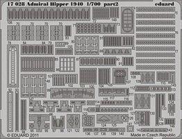 Eduard-Models Admiral Hipper 1940 for a Trumpeter Model Plastic Model Ship Detail Kit 1/700 Scale #17028