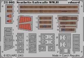 Eduard-Models Aircraft Seatbelts Luftwaffe WWII (Painted) Plastic Model Aircraft Accessory 1/24 #23003