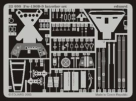 Eduard-Models Fw190D9 Interior Details for Hasegawa Plastic Model Aircraft Accessory 1/32 Scale #32099