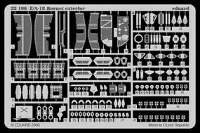Eduard-Models F/A 18 Hornet Exterior for Academy Plastic Model Aircraft Accessory 1/32 #32106