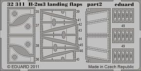 Eduard-Models IL2m3 Landing Flaps for Hobby Boss Plastic Model Aircraft Accessory 1/32 Scale #32311