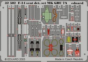 Eduard-Models F14A Seat Detail Set GRU7A for Tamiya Plastic Model Aircraft Accessory 1/32 Scale #32502