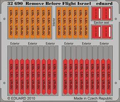 Eduard-Models Aircraft- Remove Before Flight Israel Plastic Model Aircraft Accessory 1/32 Scale #32690