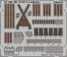 Eduard-Models Aircraft- He111 Seatbelts Plastic Model Aircraft Accessory 1/32 Scale #32708