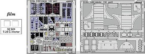 Eduard-Models T28C Interior for KTY (Painted) Plastic Model Aircraft Accessory 1/32 #32924