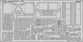 Eduard-Models Panzer IV Ausf H for ACY Plastic Model Vehicle Accessory 1/35 Scale #36382