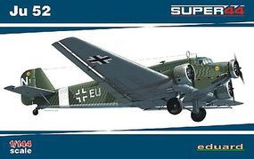 Eduard-Models Ju52 Fighter Plastic Model Airplane Kit 1/144 Scale #4424