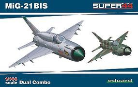 Eduard-Models MiG21BIS Fighter Dual Combo Plastic Model Airplane Kit 1/144 Scale #4427