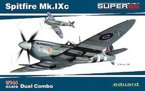 Eduard-Models Spitfire Mk IXc Fighter Dual Combo Plastic Model Airplane Kit 1/144 Scale #4429