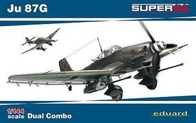 Eduard-Models Ju87G Dual Combo Plastic Model Airplane Kit 1/144 Scale #4430