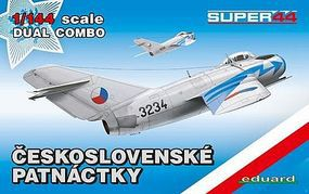 Eduard-Models MiG15 Fighter Dual Combo (Limited Edition) Plastic Model Airplane Kit 1/144 Scale #4441