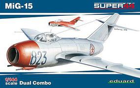 Eduard-Models MiG15 Fighter Dual Combo (Ltd Edition Plastic Kit) Plastic Model Airplane 1/144 Scale #4443