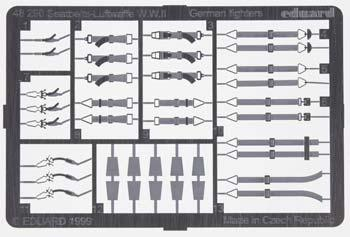 Eduard Models Photo Etch Seatbelts Luftwaffe Fighters -- Plastic Model Aircraft Decal -- 1/48 Scale -- #48290