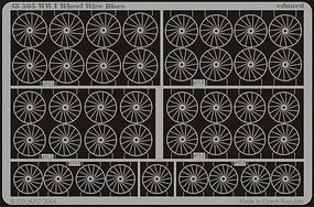 Eduard-Models Aircraft- WWI Wheel Wire Discs Plastic Model Aircraft Accessory 1/48 Scale #48505