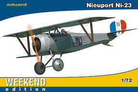 Eduard-Models Nieuport Ni23 BiPlane Fighter (Weekend Edition) Plastic Model Airplane Kit 1/72 Scale #7417