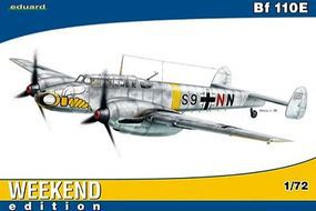 Eduard-Models Bf110E Fighter (Weekend Edition) Plastic Model Airplane Kit 1/72 Scale #7419