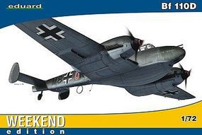 Eduard-Models Bf110D Fighter (Weekend Edition) Plastic Model Airplane Kit 1/72 Scale #7420