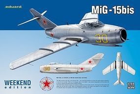 Eduard-Models MiG15bis Fighter (Weekend Edition) Plastic Model Airplane Kit 1/72 Scale #7424