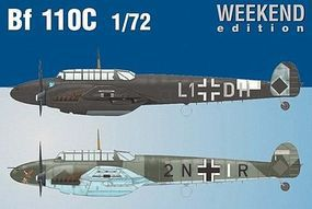 Eduard-Models Bf110C Fighter (Weekend Edition) Plastic Model Airplane Kit 1/72 Scale #7426