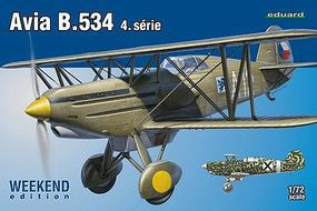 Eduard-Models Avia b534 IV Series Aircraft Plastic Model Airplane Kit 1/72 Scale #7428