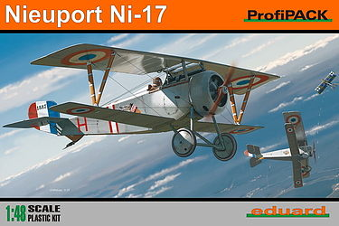 Eduard Models Nieuport Ni17 BiPlane (Profi-Pack) -- Plastic Model Airplane Kit -- 1/48 Scale -- #8051