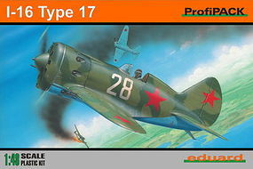 Eduard-Models I16 Type 17 Aircraft (Profi-Pack) Plastic Model Airplane Kit 1/48 Scale #8146