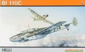 Eduard-Models Bf110C German WWII Heavy Fighter (Profi-Pack) Plastic Model Airplane Kit 1/48 Scale #8201