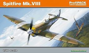 Eduard-Models Spitfire Mk VIII Fighter (Profi-Pack) Plastic Model Airplane Kit 1/48 Scale #8284
