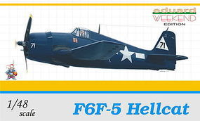 Eduard-Models F6F5 Hellcat Fighter (Weekend Edition) Plastic Model Airplane Kit 1/48 Scale #8434
