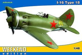 Eduard-Models Polikarpov I16 Type 18 Aircraft (Weekend Edition) Plastic Model Airplane 1/48 Scale #8465