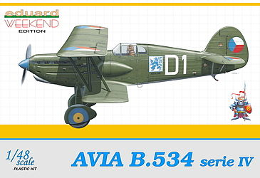 Eduard Models Avia B534 Serie IV Czech AF Aircraft -- Plastic Model Airplane Kit -- 1/48 Scale -- #8475