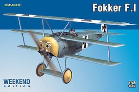 Eduard-Models Fokker F I BiPlane Plastic Model Airplane Kit 1/48 Scale #8493