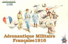 Eduard-Models Aeronautique Militaire Francaise Figures 1916 Plastic Model Airplane Kit 1/48 Scale #8511
