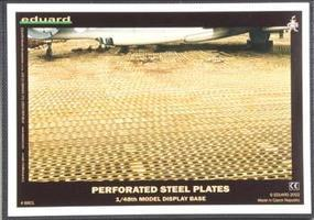 Eduard-Models Assembled Runway Perforated Steel Plate Display Base 1/48 Scale #8801