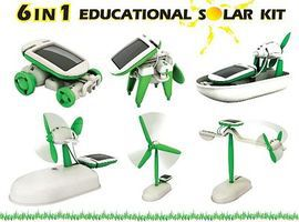 Elenco 6-in-1 Educational Solar Cell Kit
