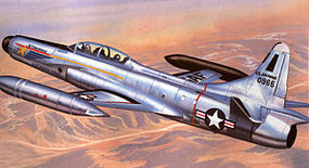 Emhar-squadron 1/72 F94C Early Starfire USAF Interceptor Aircraft