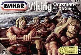 Emhar-squadron 9th-10th Century Viking Oarsmen Plastic Model Military Figure Kit 1/72 Scale #7218