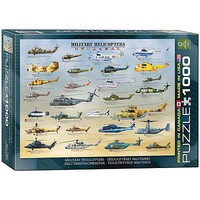 EuroGraphics Military Helicopters 1000pcs Jigsaw Puzzle 600-1000 Piece #6000-0088