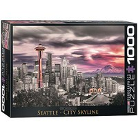 EuroGraphics Seattle City Skyline 1000pcs Jigsaw Puzzle 600-1000 Piece #6000-0660