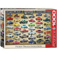 EuroGraphics Pickup Truck Evolution 1000pcs Jigsaw Puzzle 600-1000 Piece #6000-0681